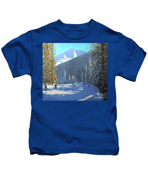 Skiing  Beauregard La Clusaz Kids T-Shirt