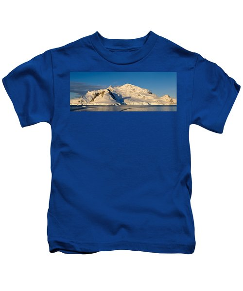 Snowcapped Mountain, Andvord Bay Kids T-Shirt