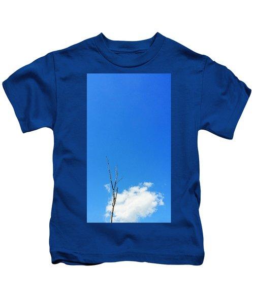 Solitude - Blue Sky Art By Sharon Cummings Kids T-Shirt