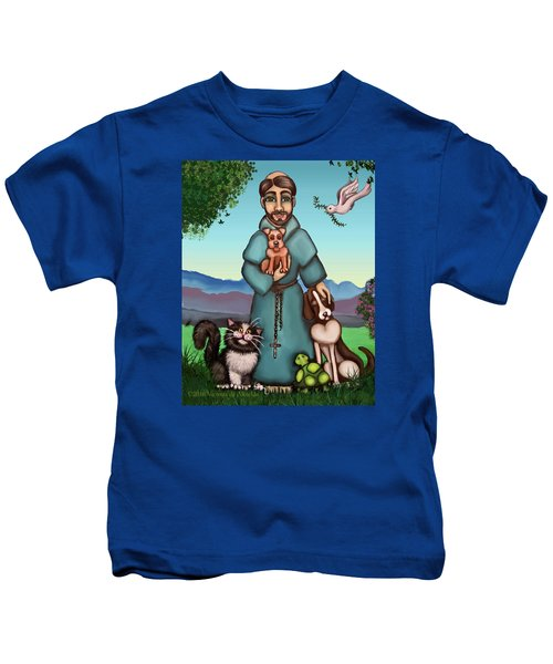 St. Francis Libertys Blessing Kids T-Shirt