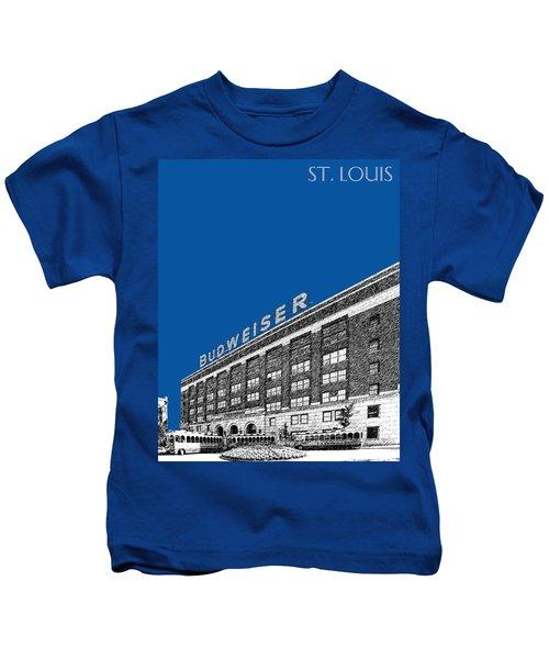 St Louis Skyline Budweiser Brewery - Royal Blue Kids T-Shirt