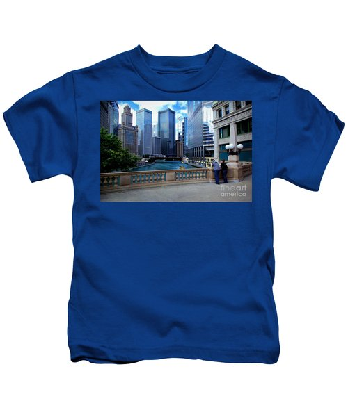 Summer Breeze On The Chicago River - Color Kids T-Shirt