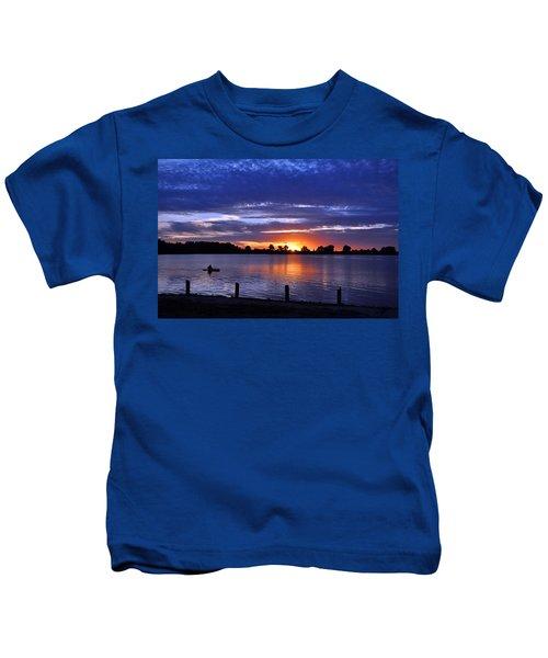 Sunset At Creve Coeur Park Kids T-Shirt