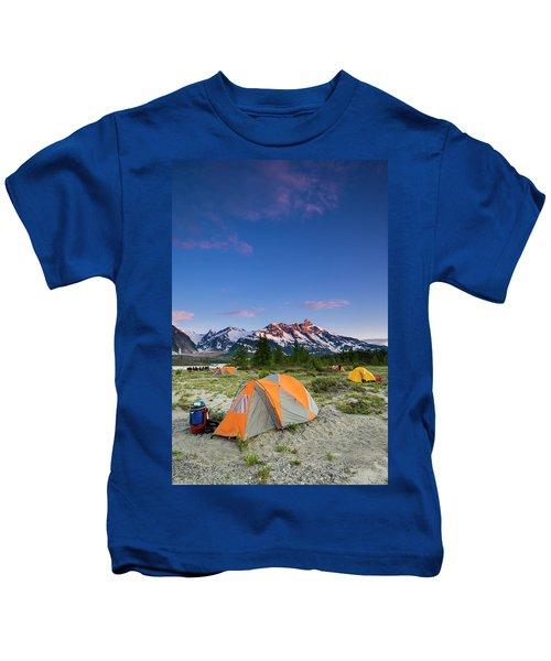 Sunset Camp Along The Alsek River Kids T-Shirt