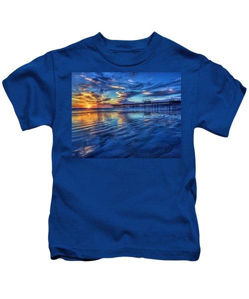Sunset In Blue Kids T-Shirt