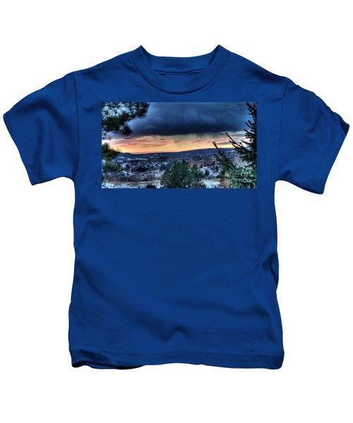Sunset Over Hot Springs Kids T-Shirt