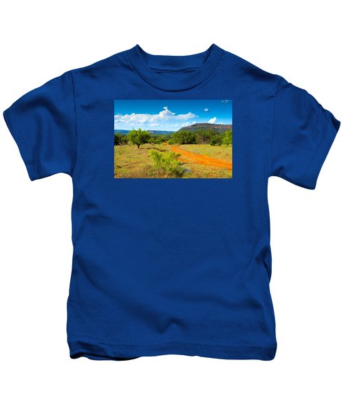 Texas Hill Country Red Dirt Road Kids T-Shirt