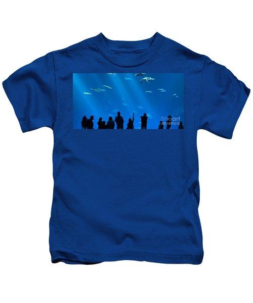 The Magnificent Open Sea Exhibit At The Monterey Bay Aquarium. Kids T-Shirt