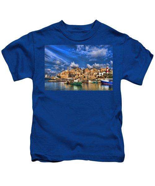 the old Jaffa port Kids T-Shirt