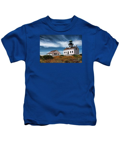 The Old Point Loma Lighthouse By Diana Sainz Kids T-Shirt