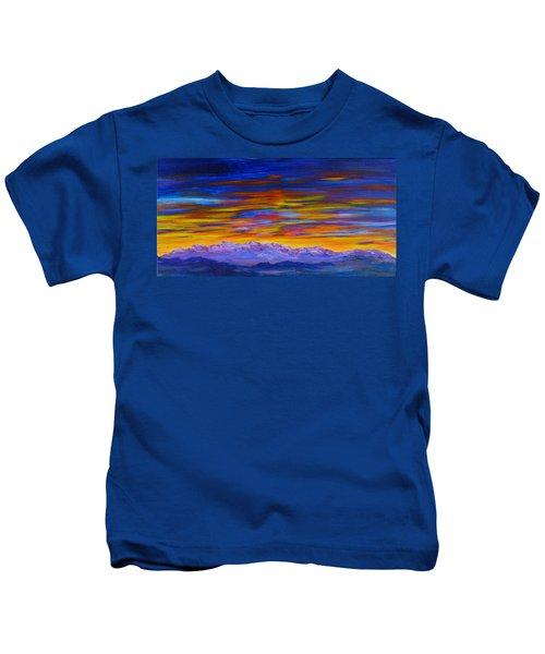 Tobacco Root Mountains Sunset Kids T-Shirt