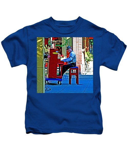 Traveling Piano Player Kids T-Shirt