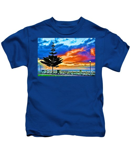 Tree And Sunset Kids T-Shirt