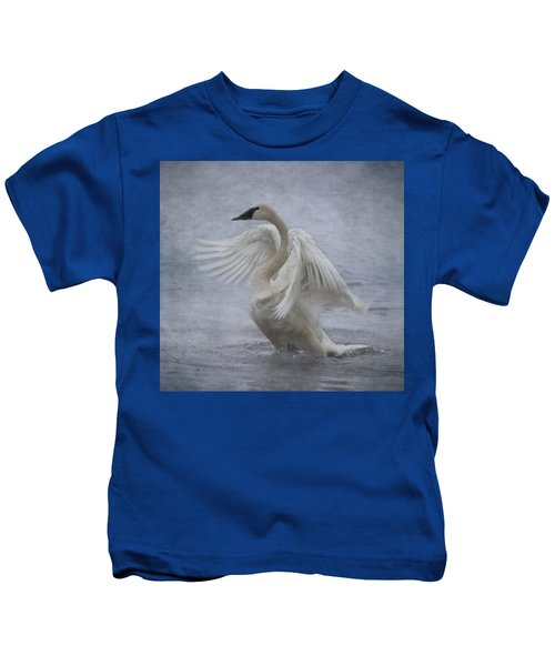 Trumpeter Swan - Misty Display Kids T-Shirt
