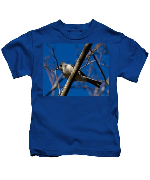 Tufted Titmouse Kids T-Shirt