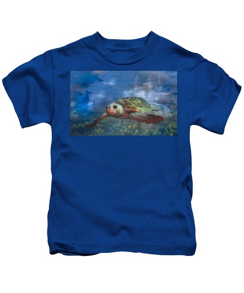 Turtle In Atlantis Kids T-Shirt
