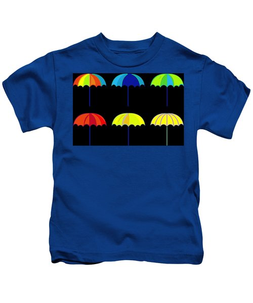 Umbrella Ella Ella Ella Kids T-Shirt by Florian Rodarte