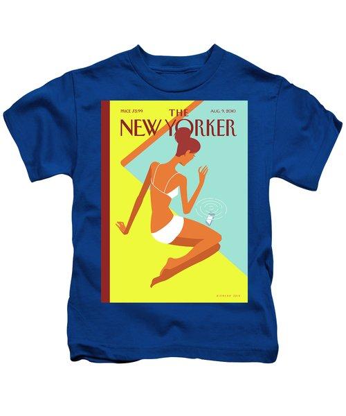 New Yorker August 9th, 2010 Kids T-Shirt
