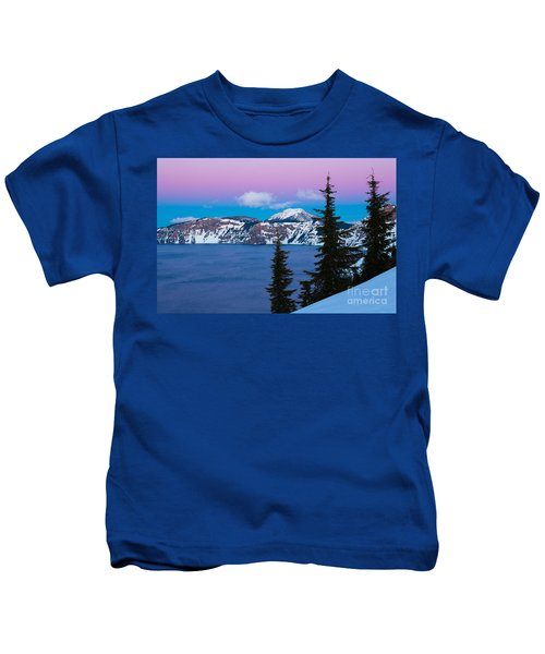 Vibrant Winter Sky Kids T-Shirt