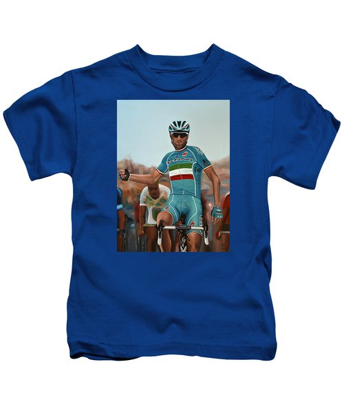 Vincenzo Nibali Painting Kids T-Shirt