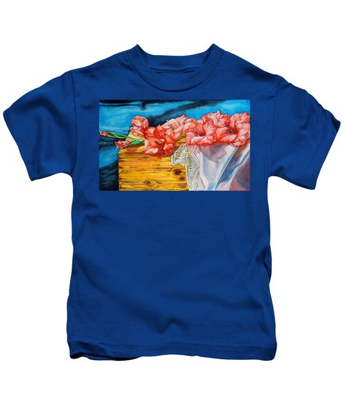 Watercolor Exercise Gladiolas Kids T-Shirt