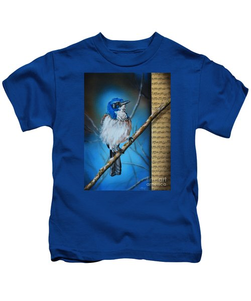 Western Scrub Jay Kids T-Shirt