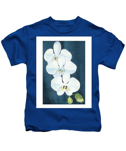 White Orchids Kids T-Shirt
