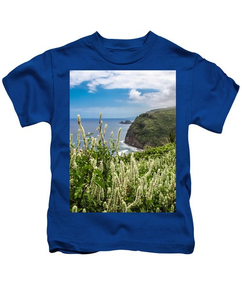Wild Flowers At Pololu Kids T-Shirt