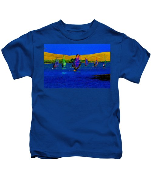 Wind Surf Lessons Kids T-Shirt