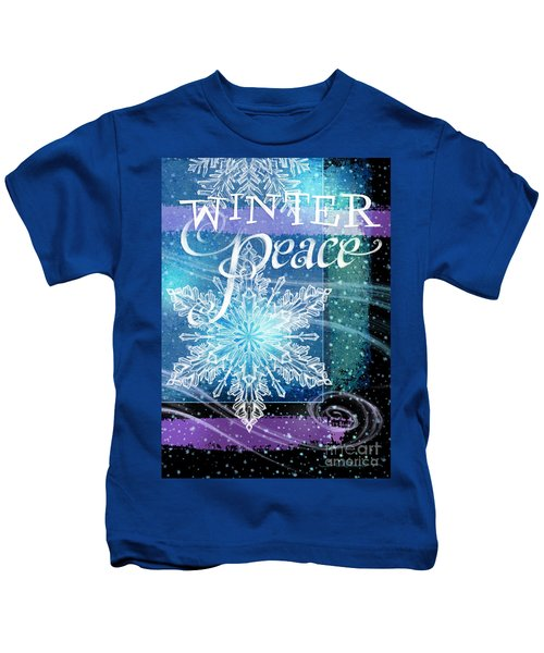 Winter Peace Greeting Kids T-Shirt