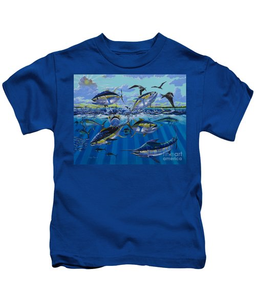 Yellowfin Run Off002 Kids T-Shirt