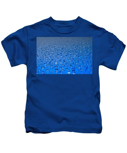 Water Drops On A Shiny Surface Kids T-Shirt