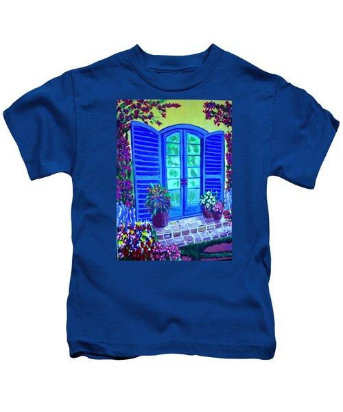 Blue Shutters Kids T-Shirt