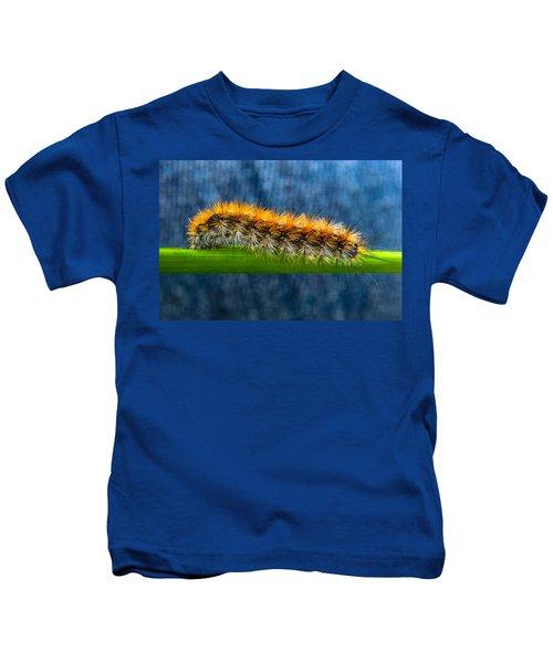 Butterfly Caterpillar Larva On The Stem Kids T-Shirt