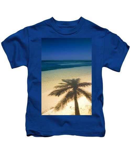 Palm Tree Shadow And Ocean, Great Kids T-Shirt