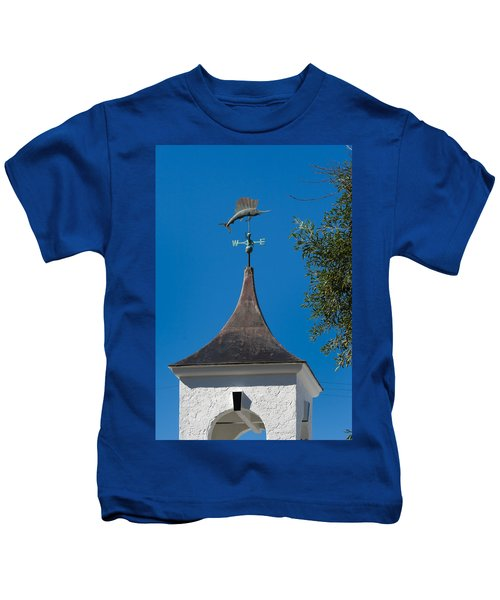 Sailfish Weather Vane At Palm Beach Shores Kids T-Shirt