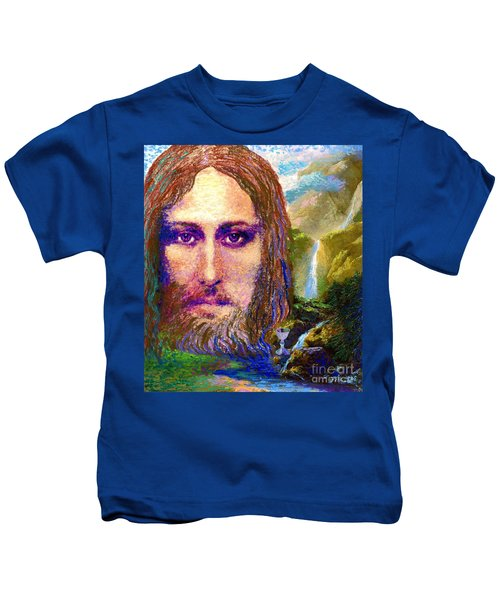 Contemporary Jesus Painting, Chalice Of Life Kids T-Shirt