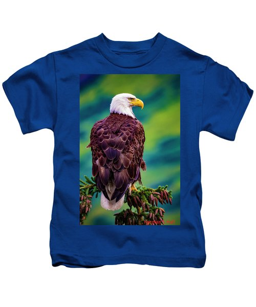 Alaska Bald Eagle Kids T-Shirt