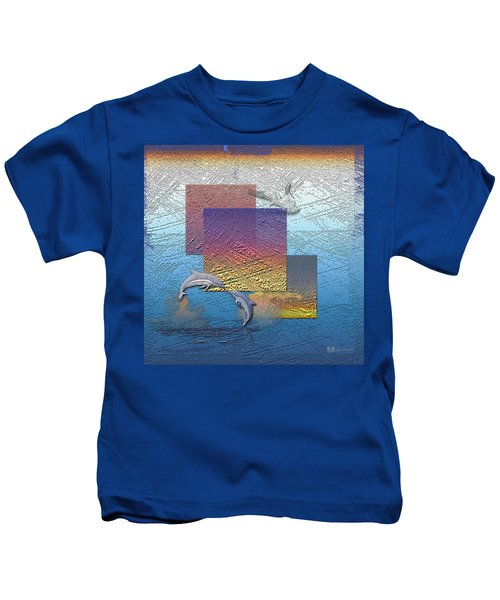 Blue Lagoon Sunrise  Kids T-Shirt