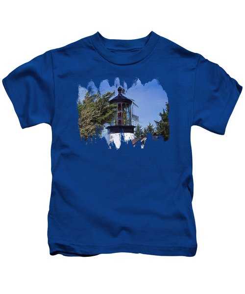 Cape Meares Lighthouse Kids T-Shirt