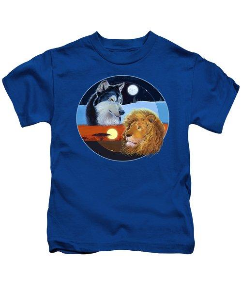 Celestial Kings Circular Kids T-Shirt by J L Meadows