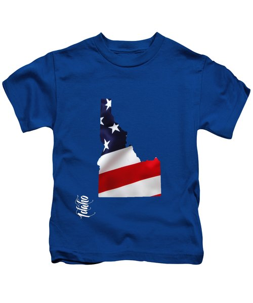 Idaho State Map Collection Kids T-Shirt