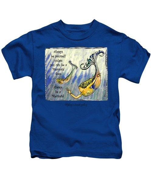 Mermaid Kids T-Shirt by W Gilroy