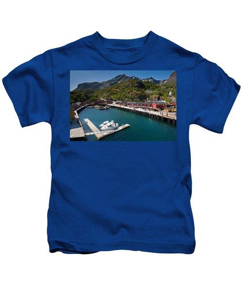 Nusfjord Fishing Village Kids T-Shirt