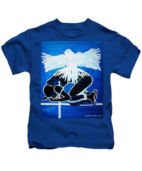 Slain In The Holy Spirit Kids T-Shirt