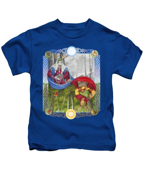 The Holly King And The Oak King Kids T-Shirt