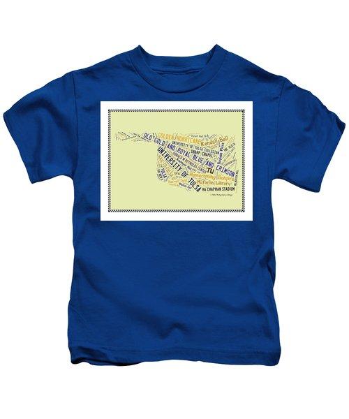 Tu Word Art University Of Tulsa Kids T-Shirt