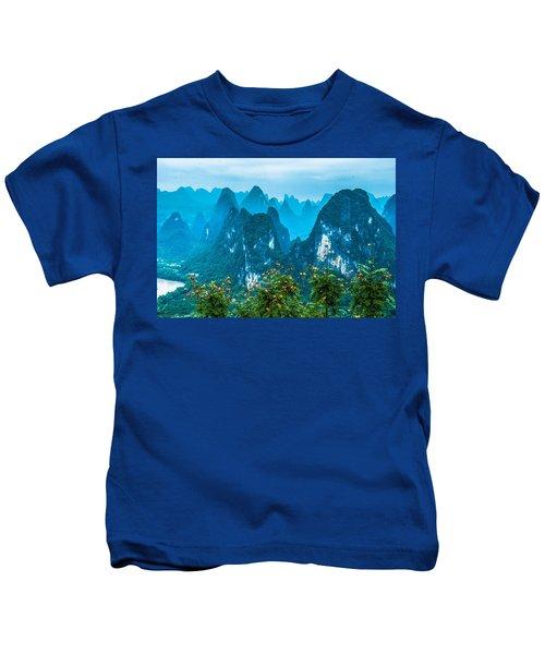 Karst Mountains Landscape Kids T-Shirt