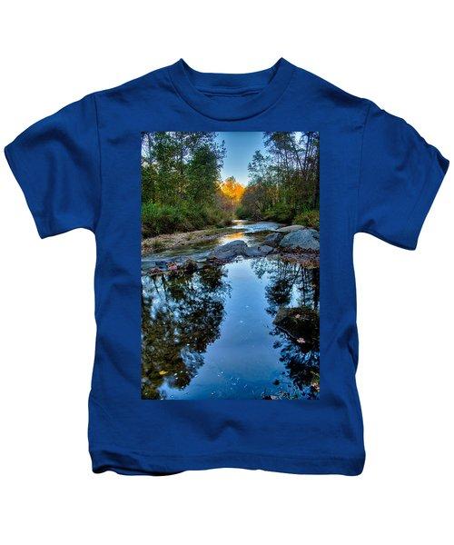 Stone Mountain North Carolina Scenery During Autumn Season Kids T-Shirt