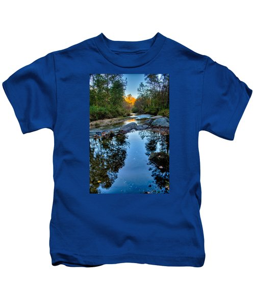 Stone Mountain North Carolina Scenery During Autumn Season Kids T-Shirt